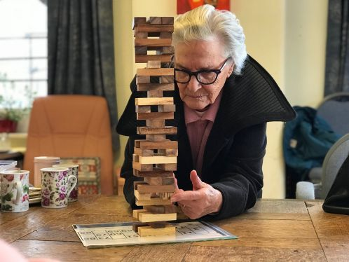 RSM Member playing Jenga at Games & Social Club