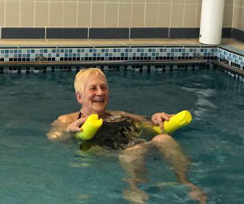 RSM member enjoying hydrotherapy