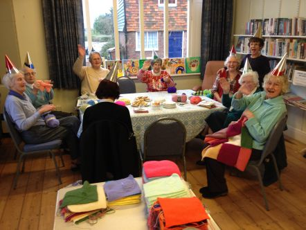RSM Members Knitting and Nattering at Christmas