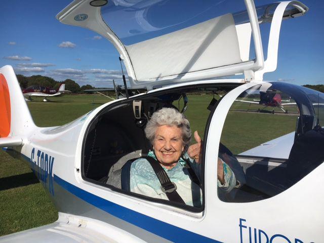 RSM member in an aeroplane