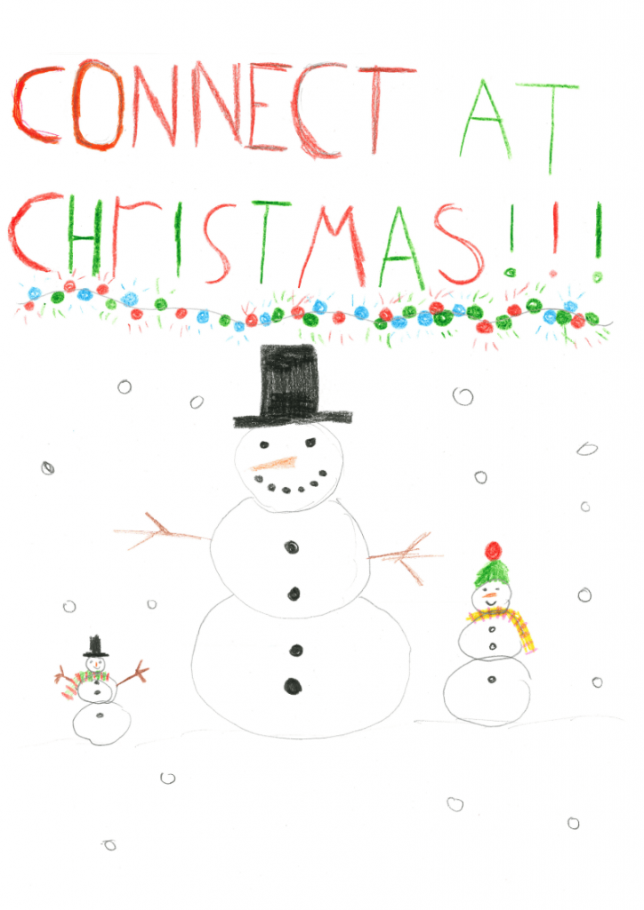 Drawing of Snowmen at Christmas