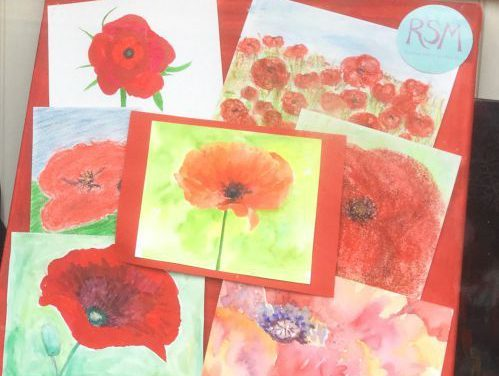 Pictures of poppies created at RSM Art Club